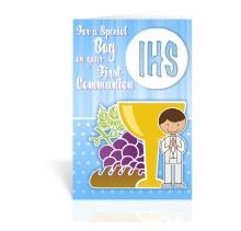 BOY 1ST COMMUNION CARD