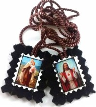BROWN SCAPULAR SMALL FELT
