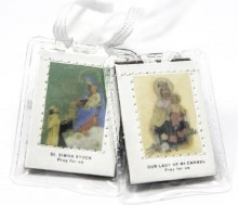 BROWN SCAPULAR IN PLASTIC