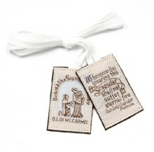 BROWN SCAPULAR WHITE CORD