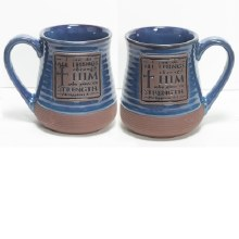 CAN DO ALL THINGS POTTERY MUG