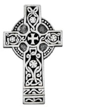 CELTIC CROSS PEWTER VISOR CLIP
