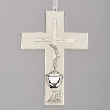 COMMUNION WALL CROSS WITH WHEAT & CHALICE