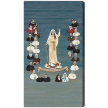 26 CHAMPIONS OF THE ROSARY CANVAS GALLERY WRAPPED PRINT