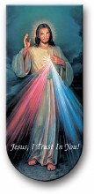 "DIVINE MERCY 3"" MAGNETIC BOOKMARK WITH CHAPLET"