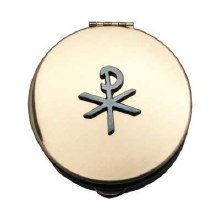 CHI-RHO PYX GOLD WITH PEWTER