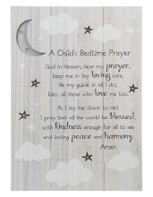 LIGHT UP WALL BOX WITH CHILD'S BEDTIME PRAYER