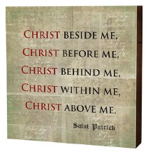 CHRIST BESIDE ME BOX SIGN