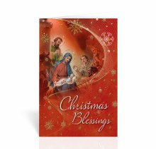 CHRISTMAS BLESSINGS NATIVITY CARD