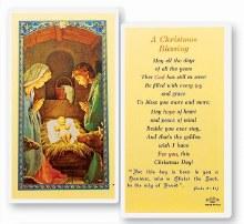 CHRISTMAS BLESSING PRAYER CARD