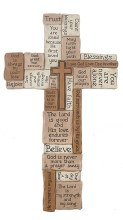 """COLLAGE 14"""" WALL CROSS"""