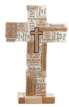 COLLAGE STANDING CROSS 10""