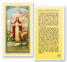 COMFORT FOR THOSE WHO MOURN PRAYER CARD
