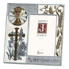 FIRST COMMUNION SILVER/GOLD FRAME