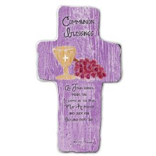 COMMUNION BLESSINGS CROSS STANDING PLAQUE