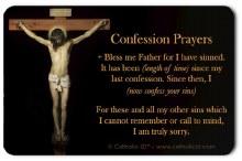 CONFESSION POCKET PRAYER CARD