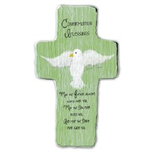 CONFIRMATION BLESSINGS CROSS STANDING PLAQUE