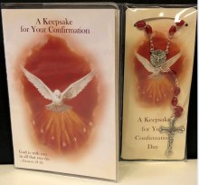 KEEPSAKE FOR YOUR CONFIRMATION BOOKLET AND ROSARY
