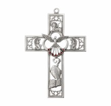 """GENUINE PEWTER 6"""" CONFIRMATION CROSS"""