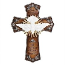 CONFIRMATION WALL CROSS WITH DOVE