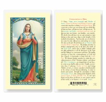 CONSECRATION TO MARY PRAYERCARD
