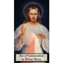 CONSECRATION TO DIVINE MERCY PRAYERCARD