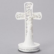 COUPLE WITH CROSS CAKE TOPPER/STANDING CROSS