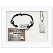 CROSS BRACELET & TAG PENDANT