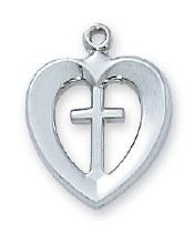 HEART & CROSS NECKLACE