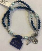 ROSARY BRACELET WITH MAGNETIC CLOSURE