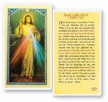 DEAR LORD JESUS I NEED YOU PRAYERCARD