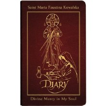 DIARY ST FAUSTINA  LEATHER BOUND