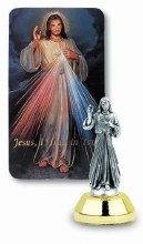 DIVINE MERCY AUTO STATUE WITH PRAYER CARD
