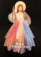 DIVINE MERCY CUT OUT MAGNET
