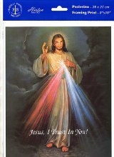 DIVINE MERCY PRINT ONLY 8X10