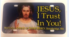 DIVINE MERCY LICENSE PLATE