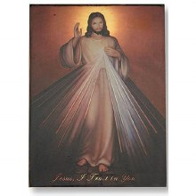 DIVINE MERCY PLAQUE GOLD