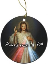 Divine Mercy Porcelain two-sided Ornament
