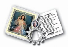 DIVINE MERCY FINGER ROSARY WITH HOLY CARD