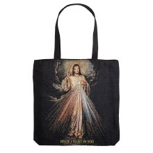 DIVINE MERCY TAPESTRY WITH GOLD HIGHLIGHTS TOTE BAG