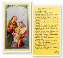 DIVINE PRAISES PRAYERCARD