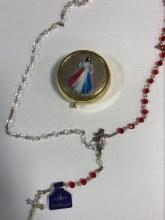 DIVINE MERCY ROSARY AND ROUND BOX