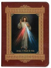 Catholic Bible with Divine Mercy Cover - Burgundy