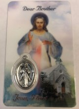 DIVINE MERCY DEAR BROTHER PRAYER CARD