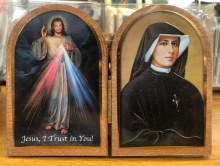 DIVINE MERCY AND ST FAUSTINA DIPTYCH