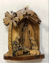 NATIVITY ORNAMENT WITH DIVINE MERCY