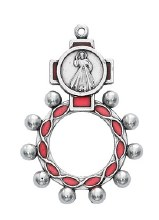 DIVINE MERCY RED ROPE ROSARY RING