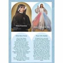 DIVINE MERCY/ST FAUSTINA PRAYER CARD