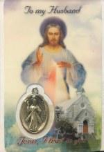 DIVINE MERCY TO MY HUSBAND PRAYER CARD