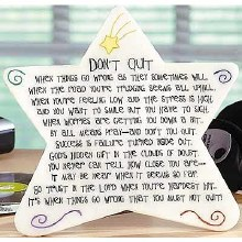 DON'T QUIT MARBLE STAR PLAQUE